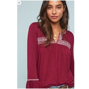 Anthropologie Casablanca Embroidered Top NWT Shirt